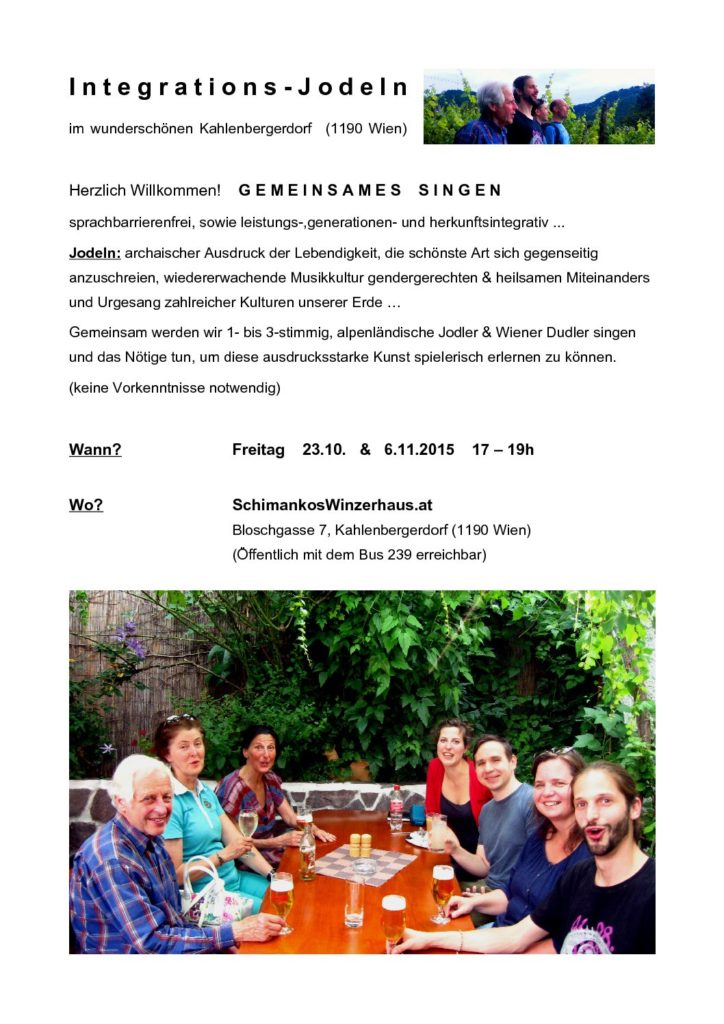 Integrations-Jodeln Herbst 2015