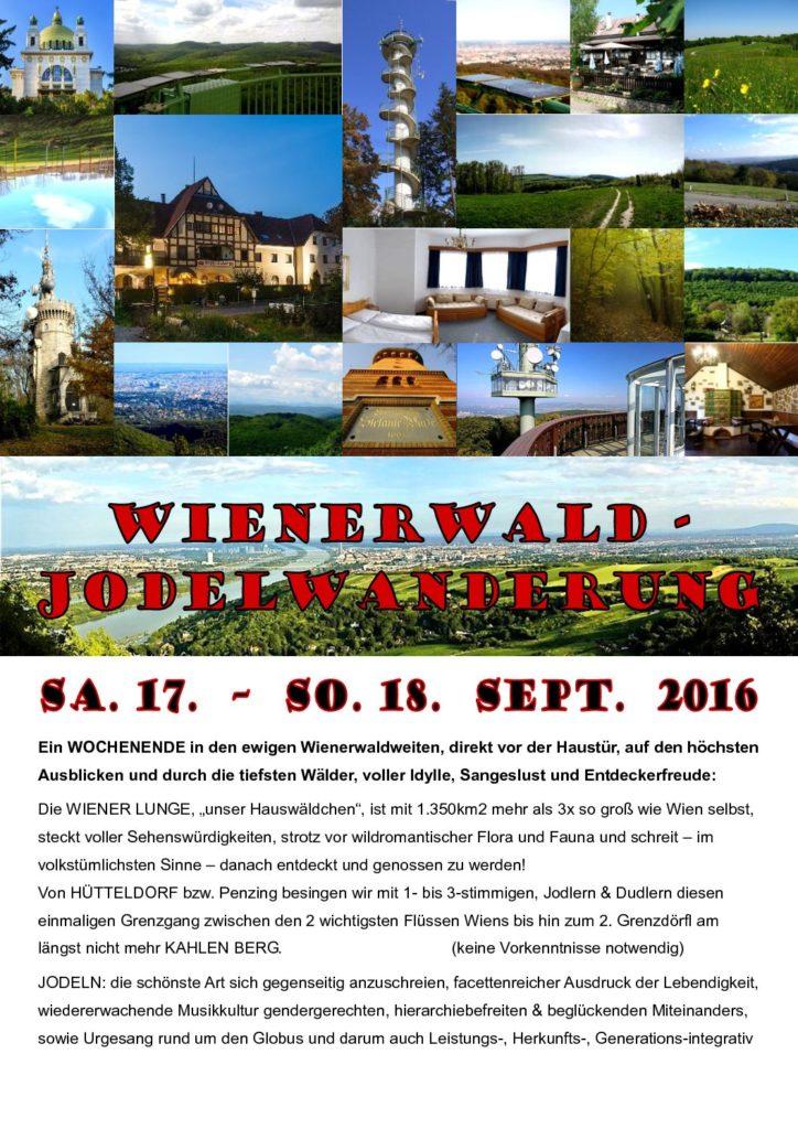 Wienerwald-Jodelwanderung 2016