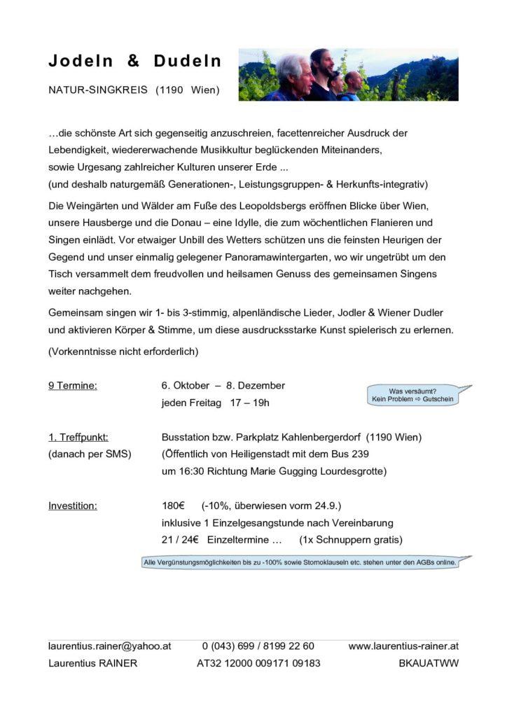 Jodeln & Dudeln Herst 2017