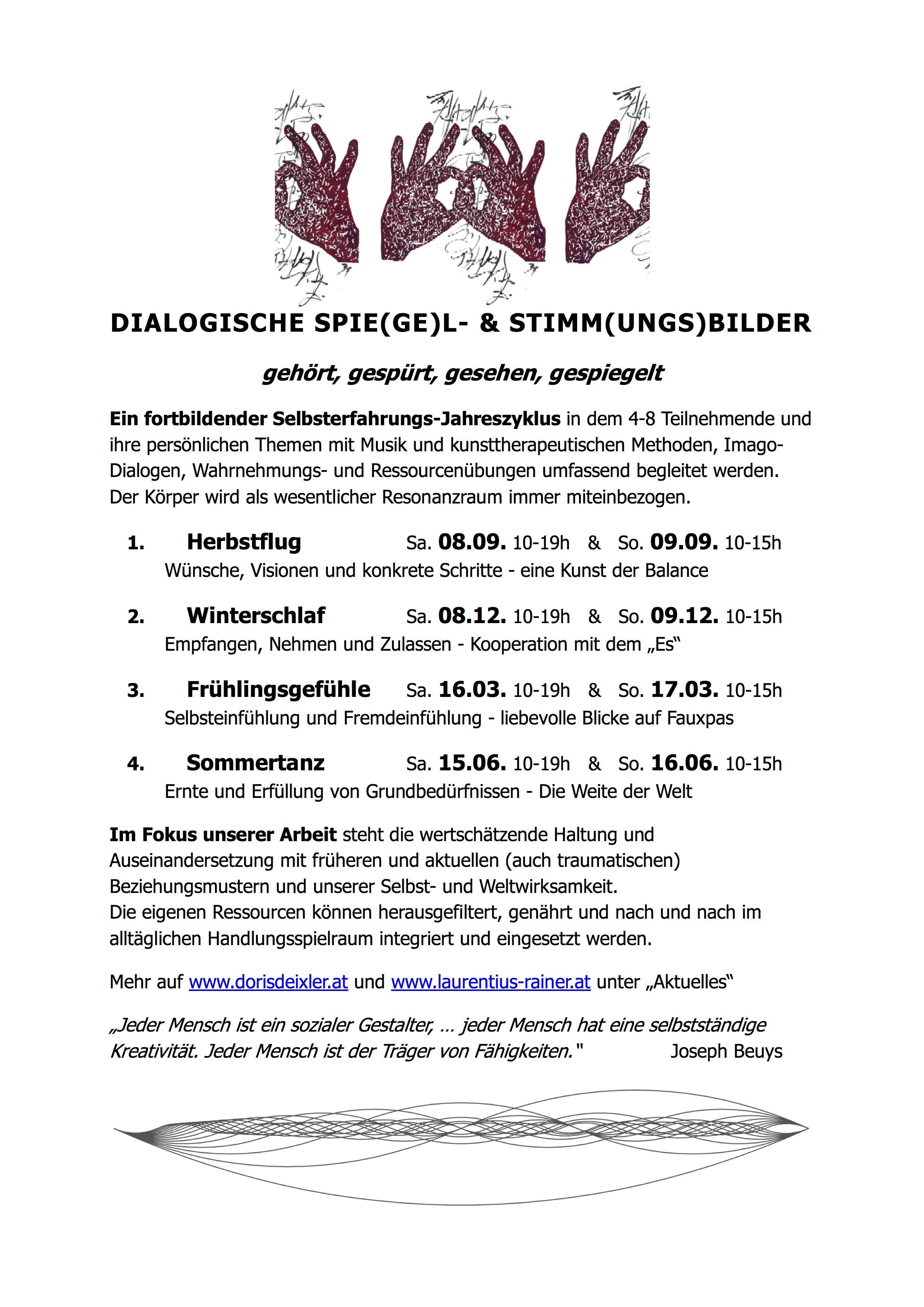Dialogische Spie(ge)l- & Stimm(ungs)bilder 2018/19