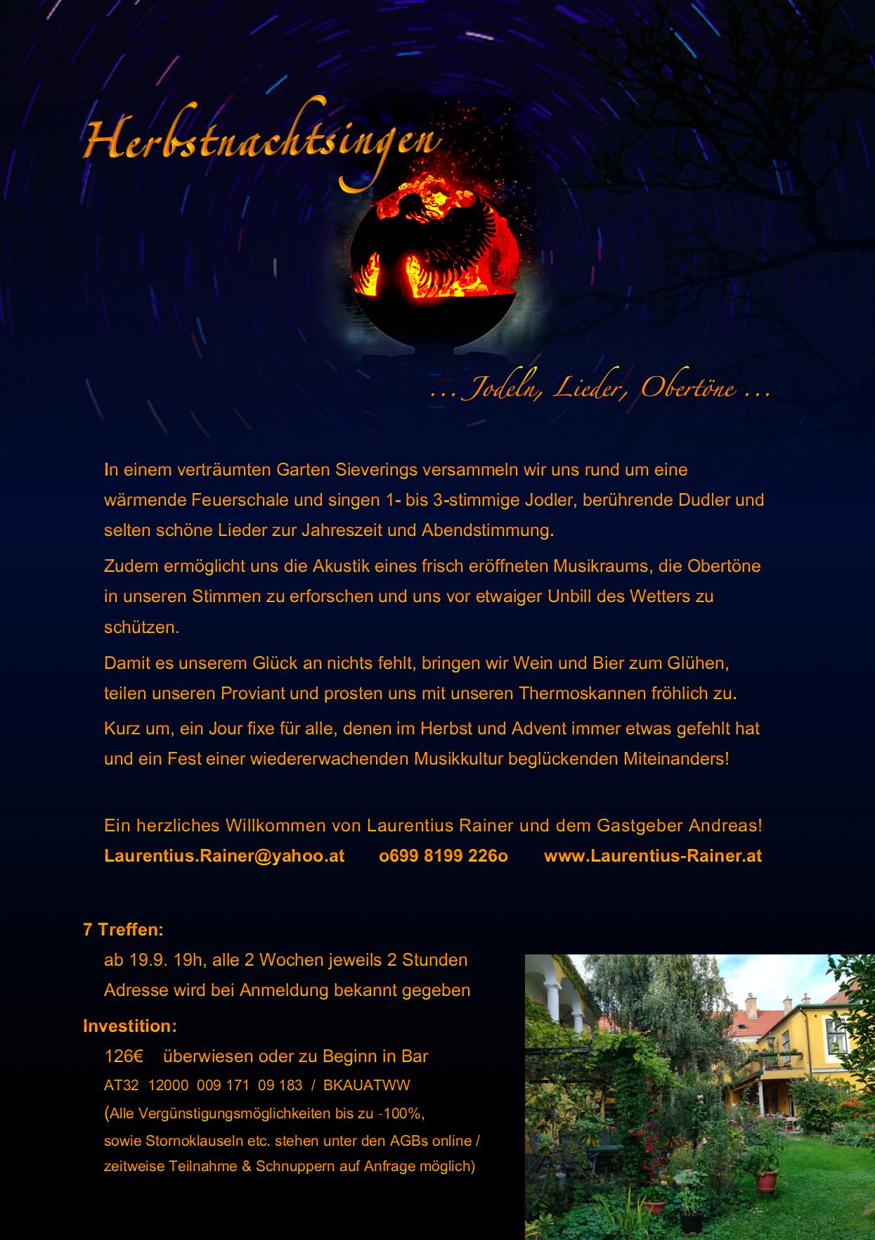 Herbstnachtsingen 2018