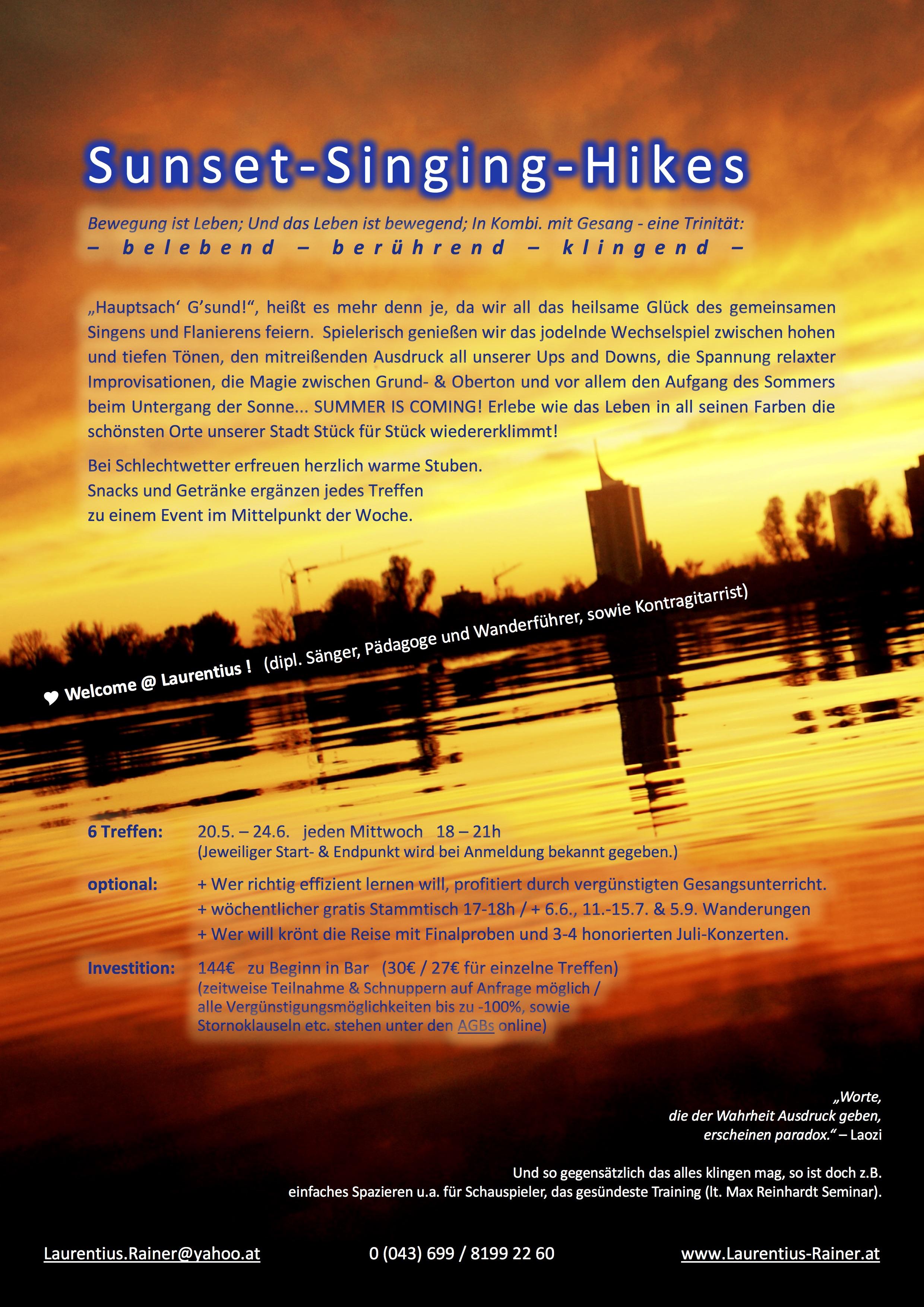Gesangskurs Sunset-Singing-Hikes 2020