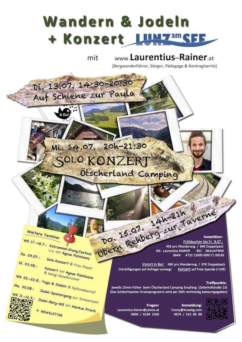 Jodelwanderungen + Konzert in Lunz am See 2021
